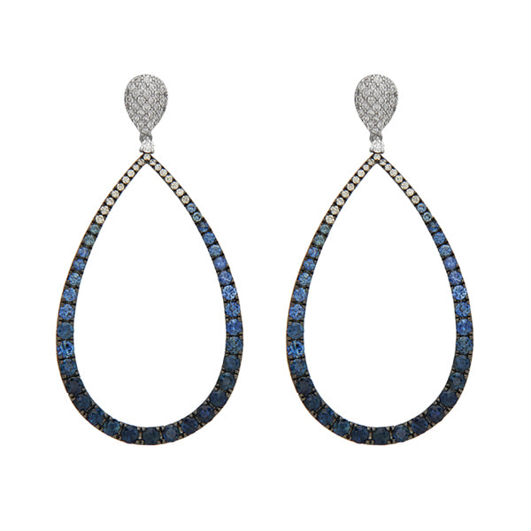 Sapphire & Diamond Ombre Earrings