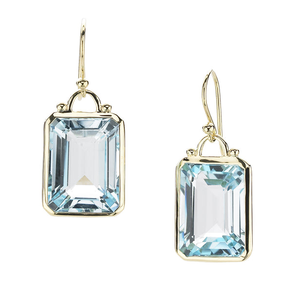 Elizabeth Showers Blue Topaz Earrings