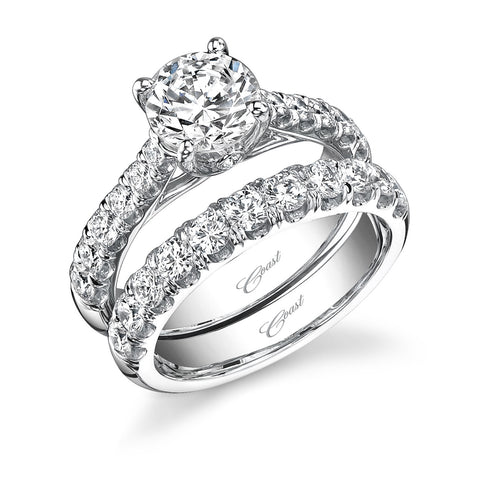 Coast Diamond Platinum And Round Brilliant Four Prong Fishtail Diamond Mounting