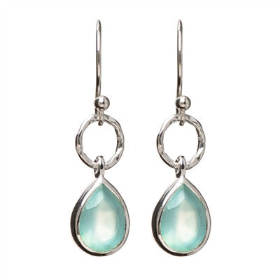 Sterling Silver Aqua Chalcedony