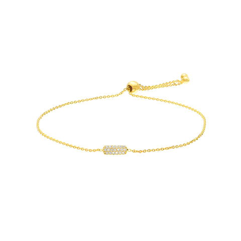 14k Diamond Disc Bracelet