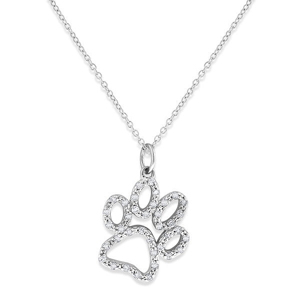 KC Designs Diamond Paw Print Pendant