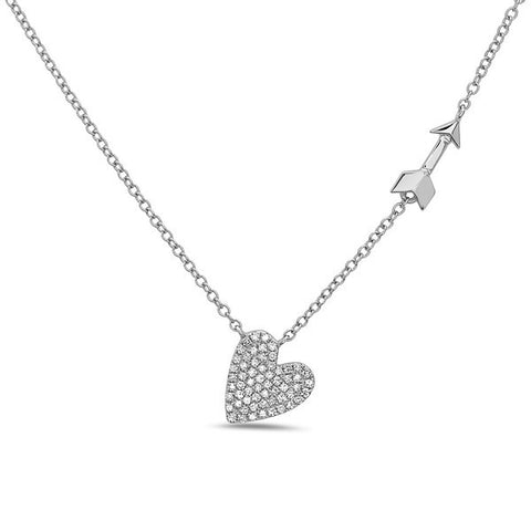 Diamond Heart & Arrow Pendant