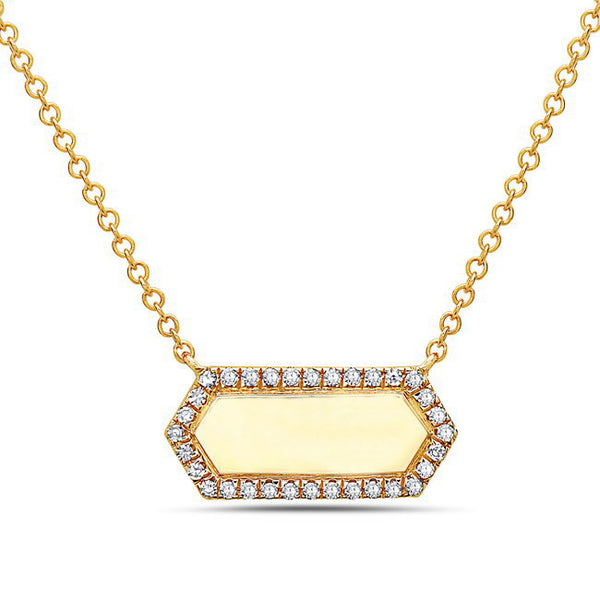 Gold & Diamond Disc Pendant