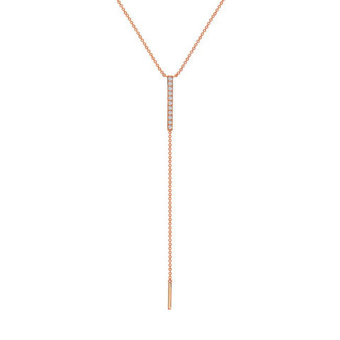 Diamond Lariat Bar Necklace