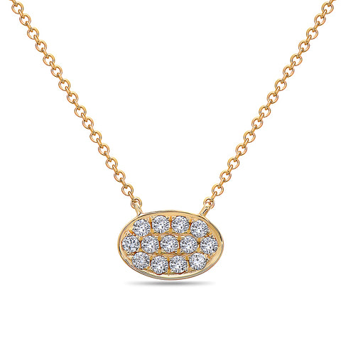 Diamond Pave Disc Pendant