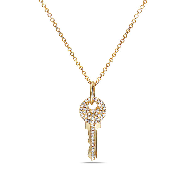 Diamond Mini Key Pendant