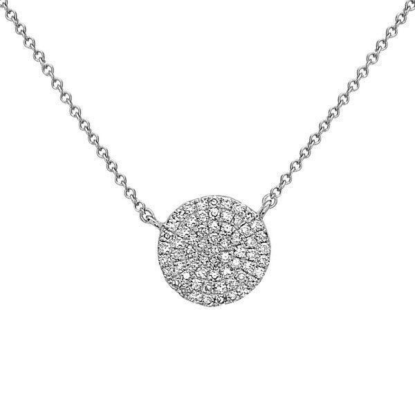 Mini Diamond Disc Pendant