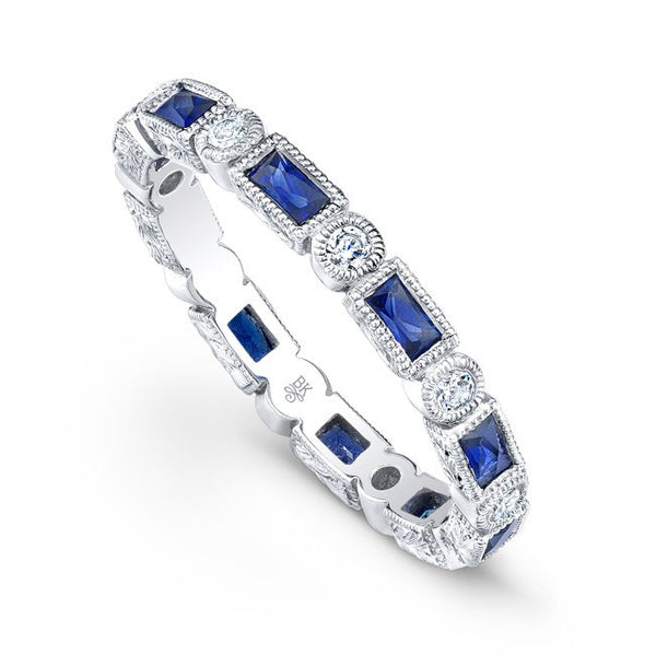 Beverley K Stackable Sapphire & Diamond Band
