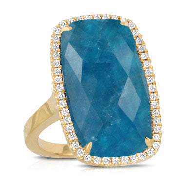 Apatite & Diamond Ring