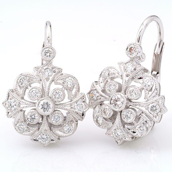 Beverly K Floral Diamond Earring