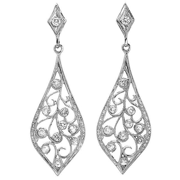 Beverley K Floral Diamond Earrings