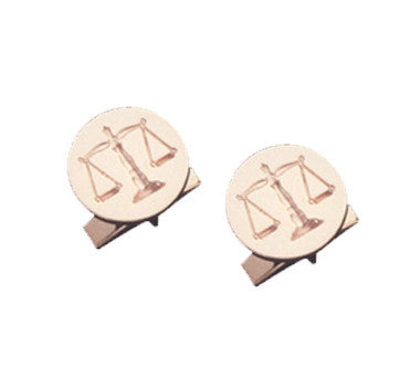 18K Yellow Gold Scales Of Justice Cufflinks