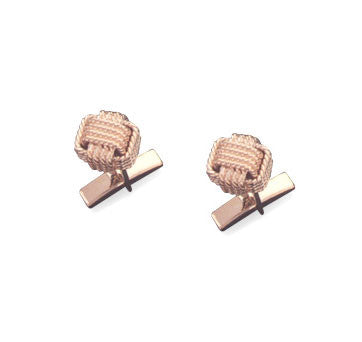 18K Yellow Gold Monkey Fist Cufflink