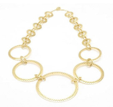 18K Crown-Style Circle Loop Necklace By Ray Griffiths