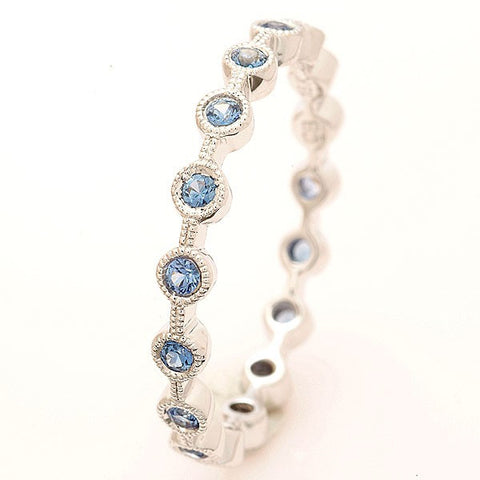 Beverley K Stackable  Sapphire Band