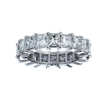 Platinum Radiant Cut Eternity Diamond Band
