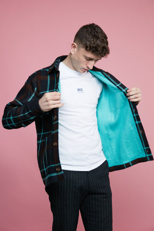 Outershirt- Neon Mint Check