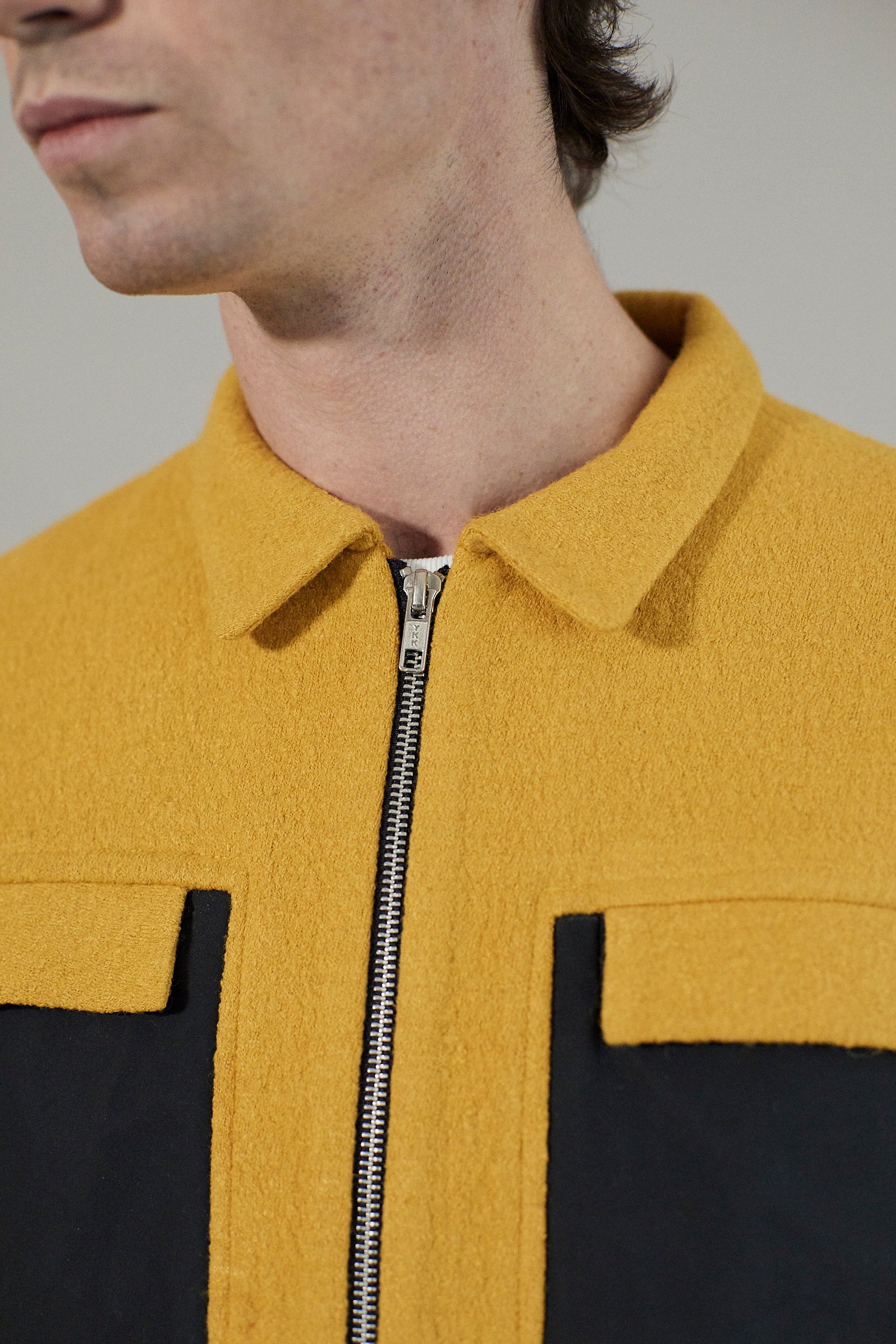 Zip Jacket | Lemon Boiled Wool