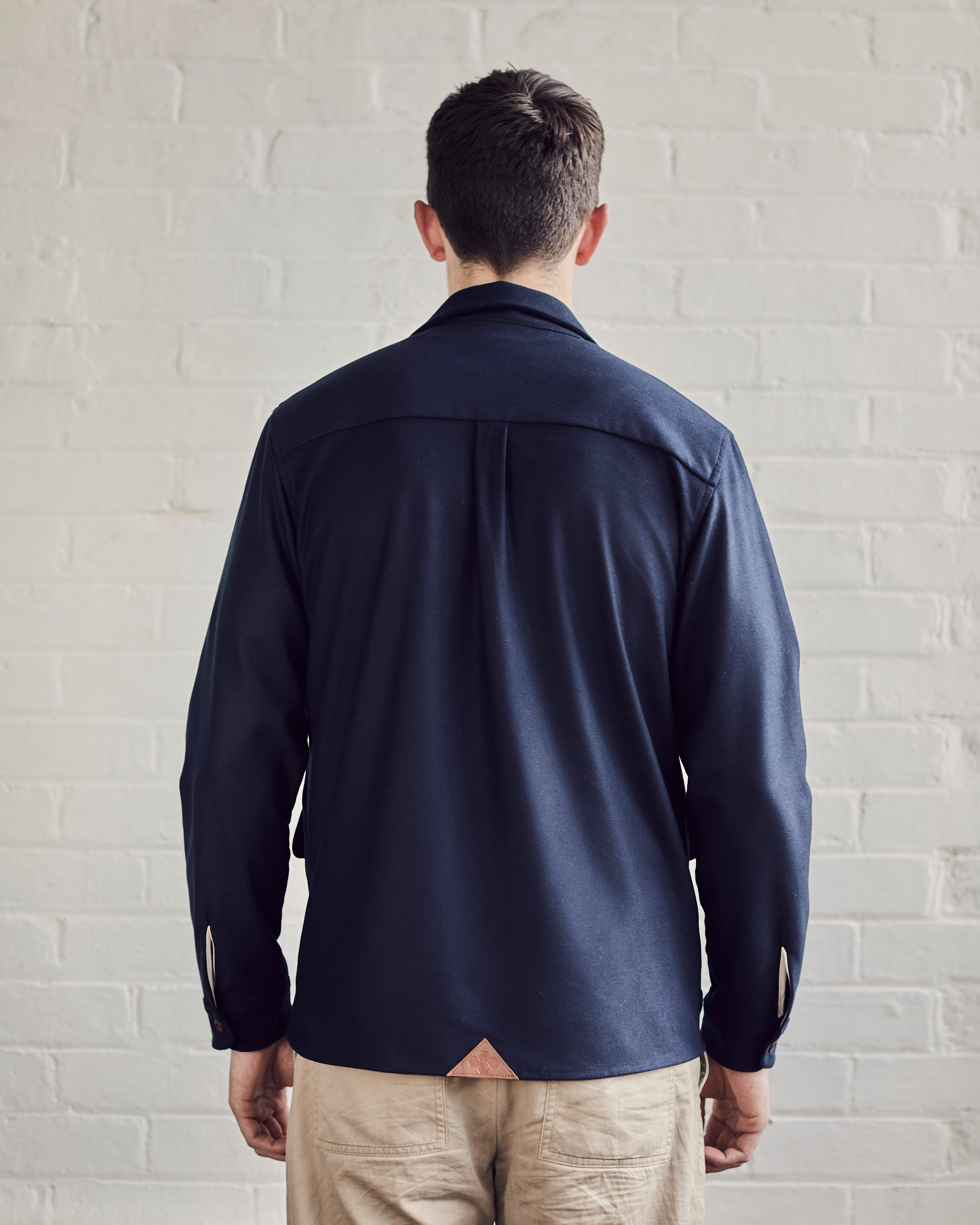 Limited Edition Brushed Worker Overshirt | Navy