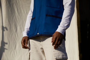 Wool Over Vest - Royal blue