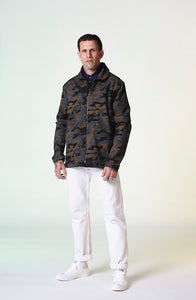 Wool Zip Shacket - Camo