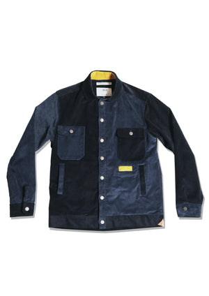 Cord Jacket | Navy Panel Cord
