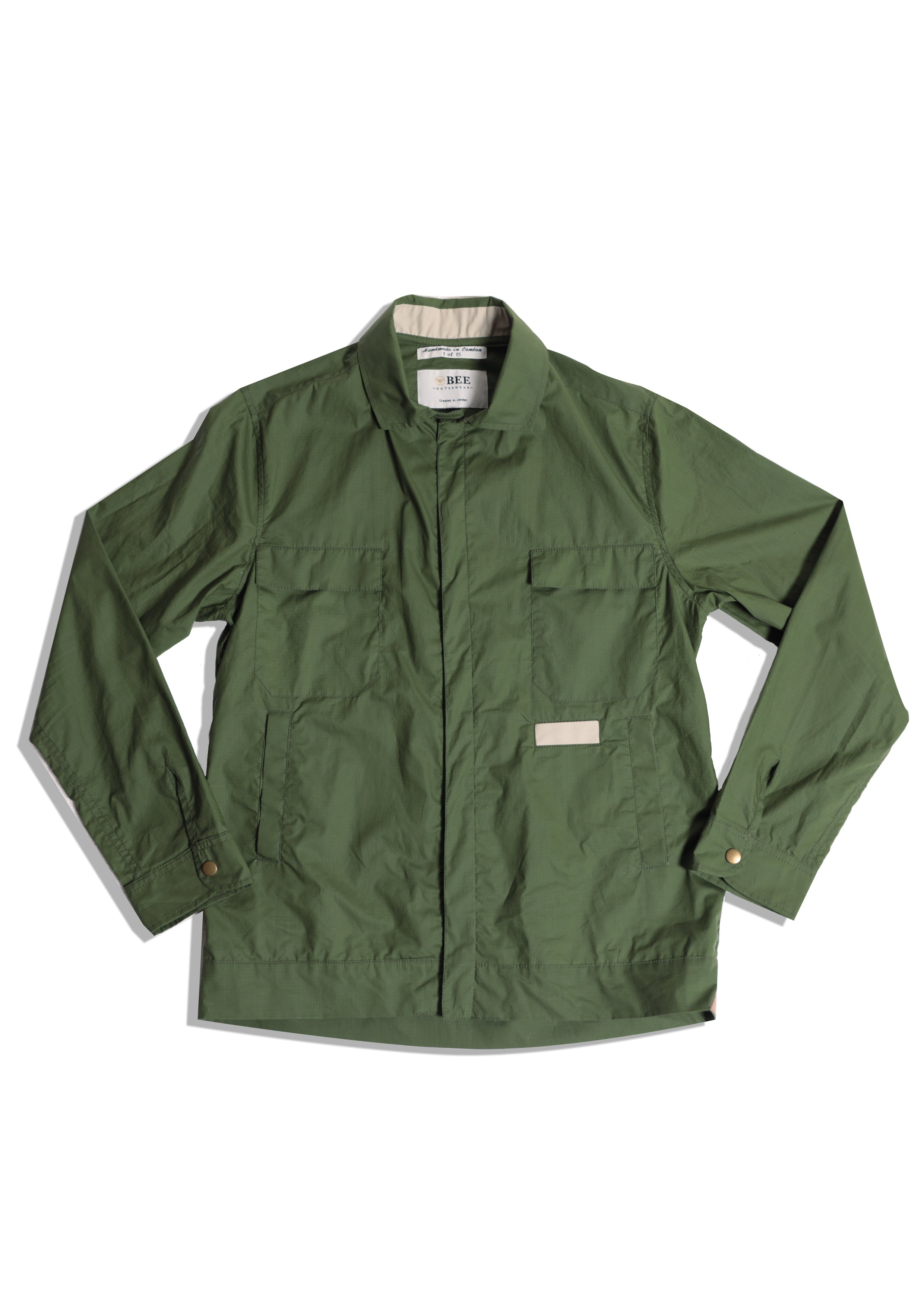 Ripstop Waxed Light jacket | Olive Green Cycle Jacket