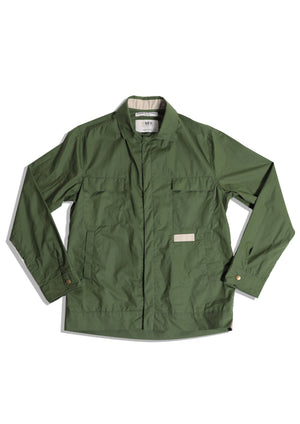 Ripstop Waxed Overshirt | Olive Green Cycle Jacket