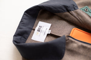 Tweed Harrington - Navy/Brown