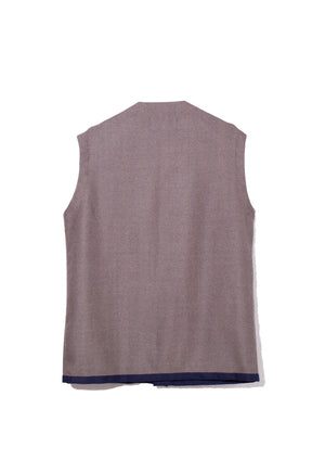 Wool Over Vest - Herringbone Tweed