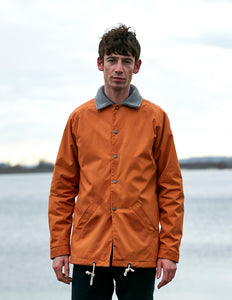 Waxed Pile Jacket - Orange