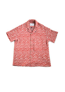 Cuban Short Sleeved Shirt - Tiger
