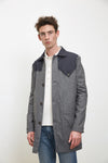 Wool Technical Trench Coat - Grey/Navy