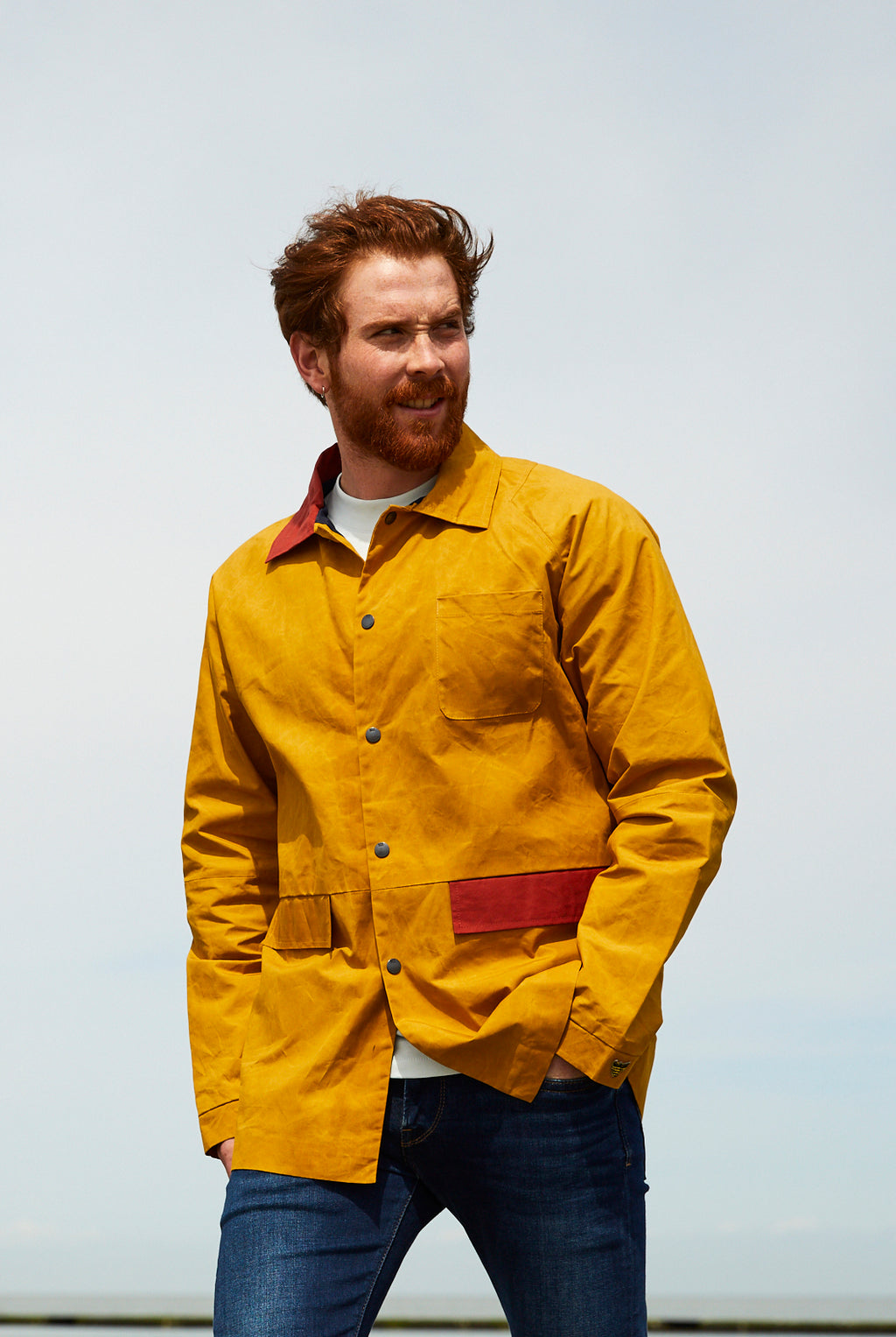 Dry Waxed Coach Jacket - Yellow