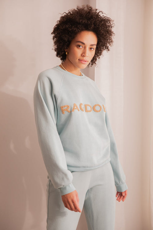 VINTAGE SWEATSHIRT WITH TERRY PATCH Light Blue