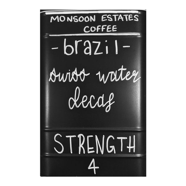 Brazil Swiss Water DECAF - Monsoon Estates Coffee - 250g
