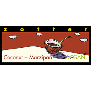 Hand-scooped Coconut & Marzipan