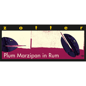 Hand-scooped Plum Marzipan in Rum