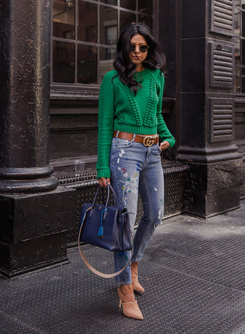 Chic Woman In Green