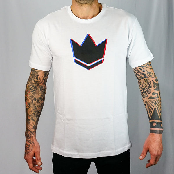 Camiseta Masc. Kingz Crown 3D - Branco