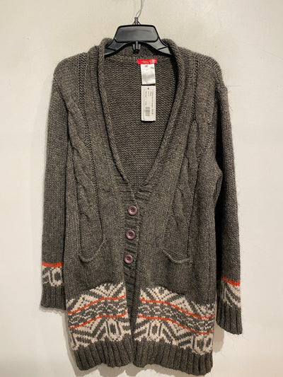 Fabiola Grey Knit Cardigan
