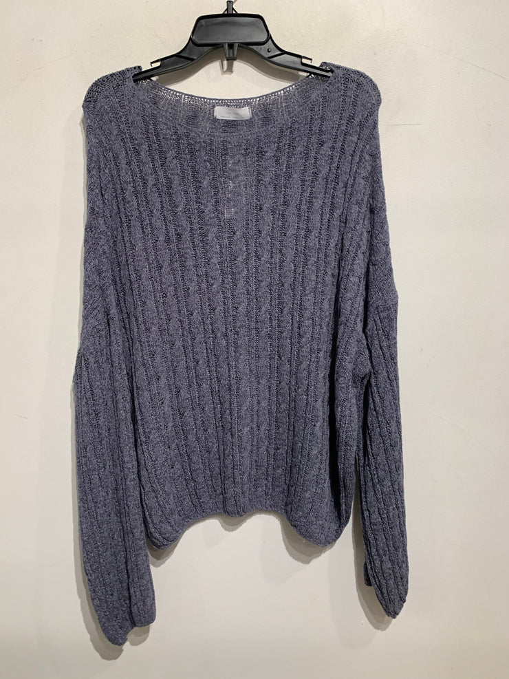 Oak + Fort Blue Knit Sweater
