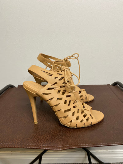 Le Chateau Beige Cut Out Heel