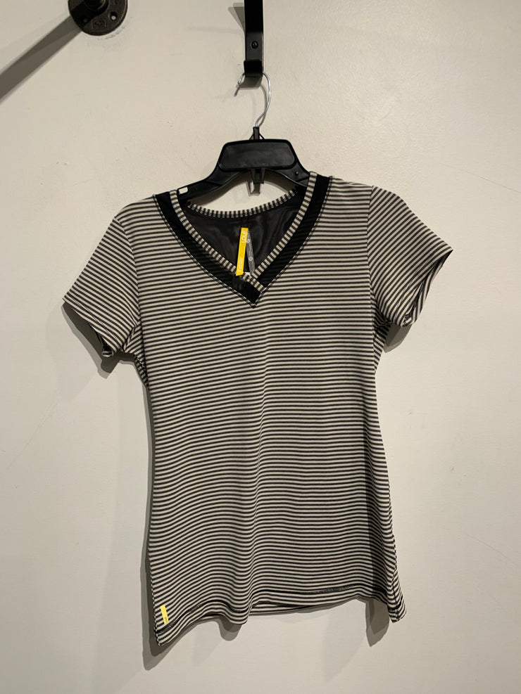 Lole Grey/White/Mesh Tee