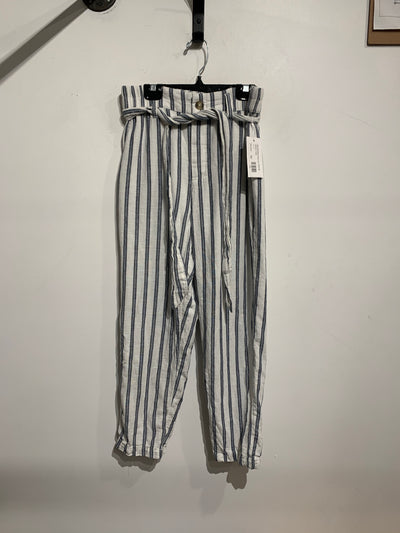A&E White/Blue Stripe Pant