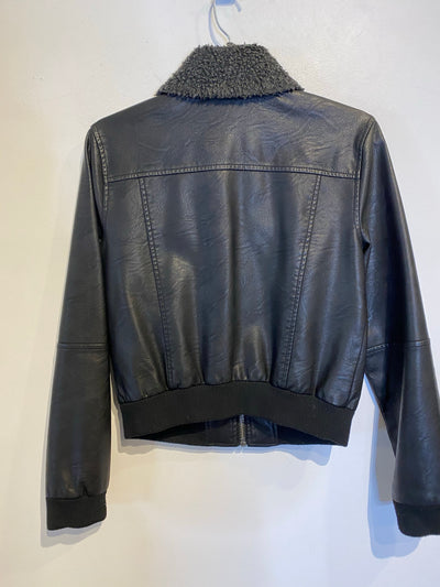 Obey Faux Leather Bomber
