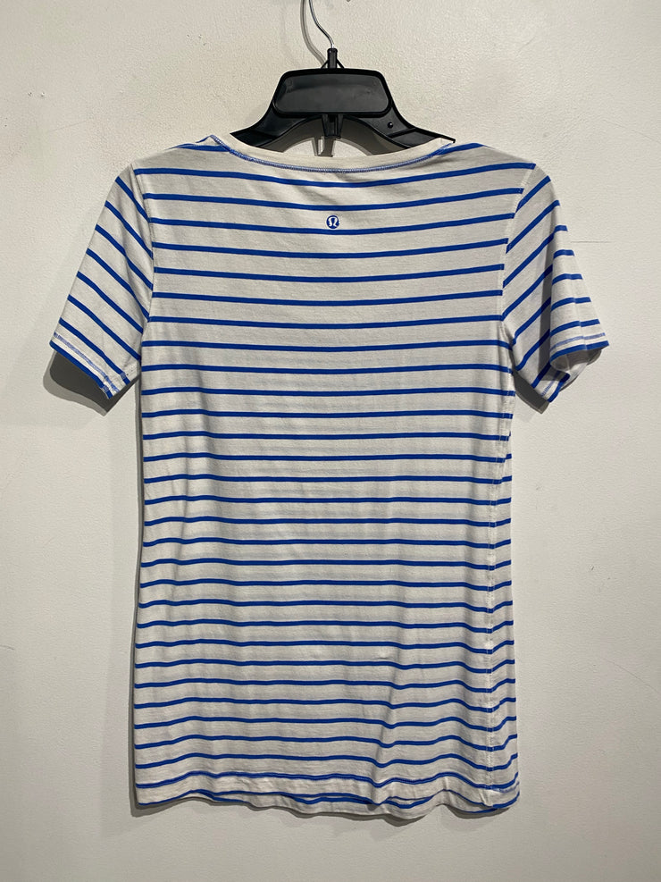 Lululemon White/Blue StripeTee