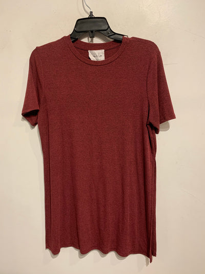 Sadie & Love Burgundy Tee