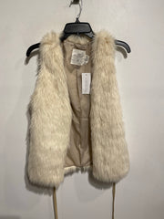 LOGG Cream Faux Fur Vest